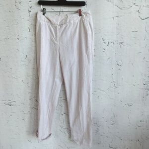 TALBOTS PINK WHITE STRIPE PANTS 8